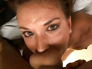 Chick is slurping dudes massive rod hungrily