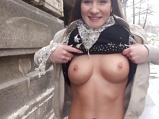 Myrna Joy flashes her boobs and railed