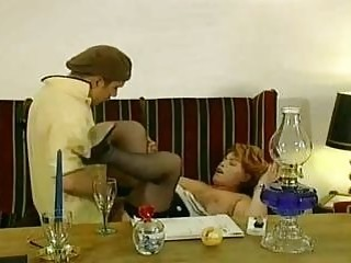 Mature redhead woman and a young cock