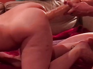 Milf Hotwife DP by big cock hubby and friend in crazy hot threesome