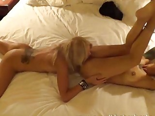 Two hot lesbians going at it