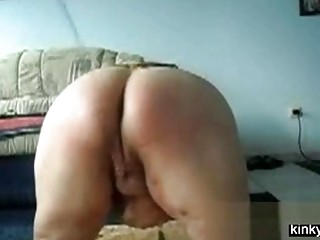 Whipping big butt of a sub Mom