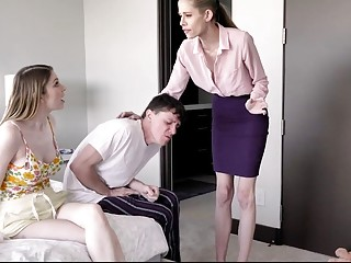 FamilyStrokes  Cougar Watches While Stepsibblings