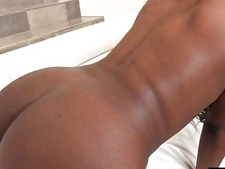 Big Chocolate stick for a phat black booty hole