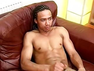 Black UK youngster masturbates and cums